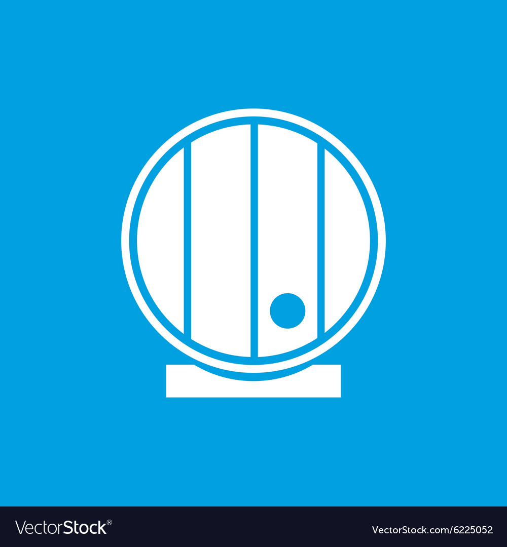 Wooden cask icon white vector