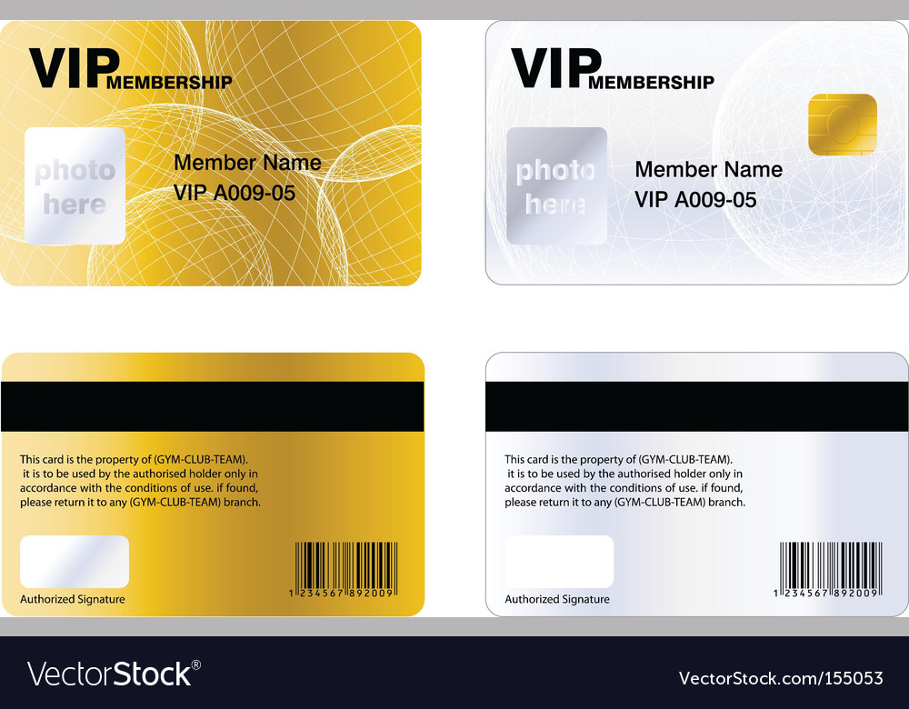 Golden vip membership card vector