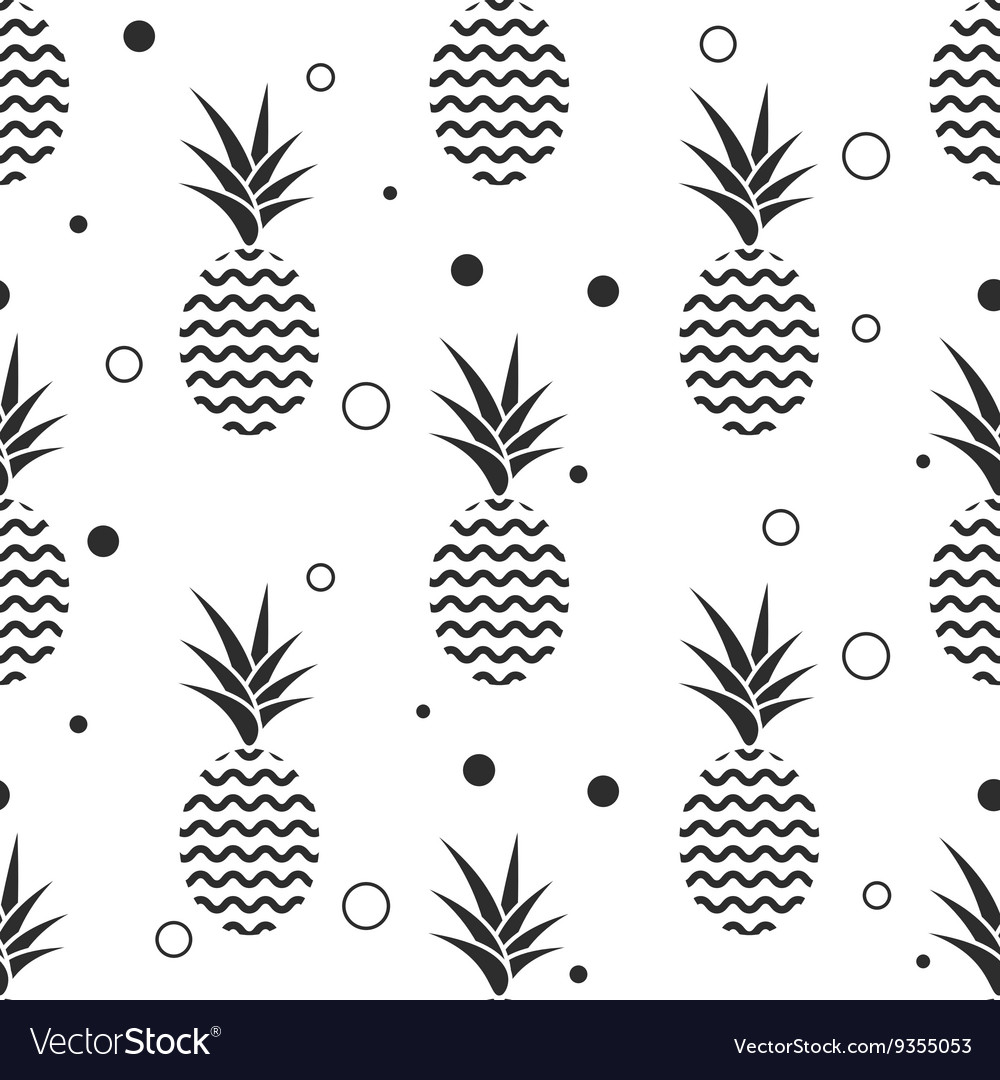 Pineapple simple vetor seamless background vector