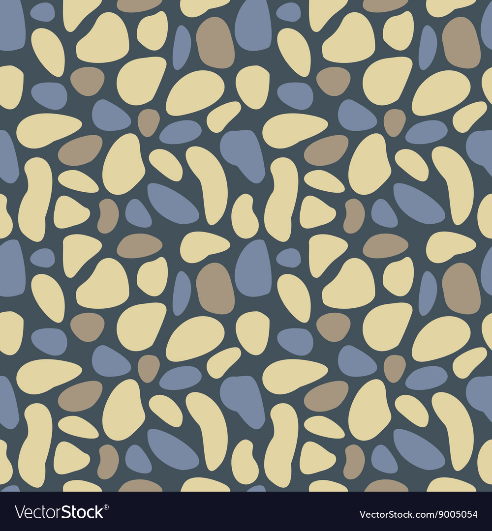 Abstract pebble seamless pattern texture vector