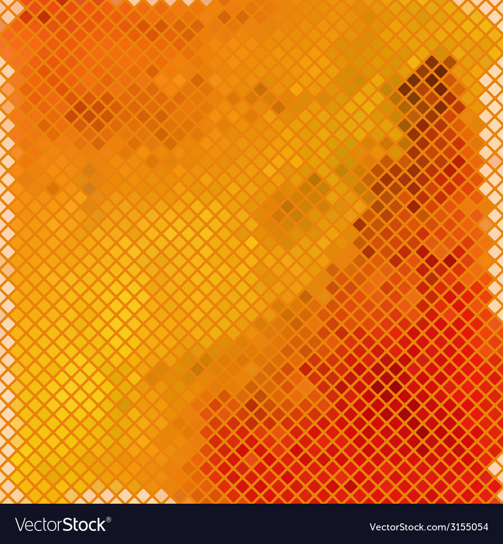 Mosaic with warm colors vector