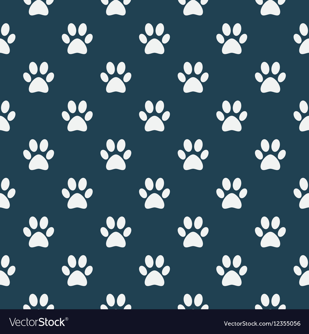 Cat of dog paw pattern vector