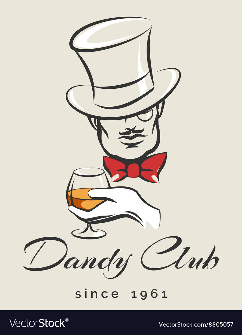 Dandy club emblem vector