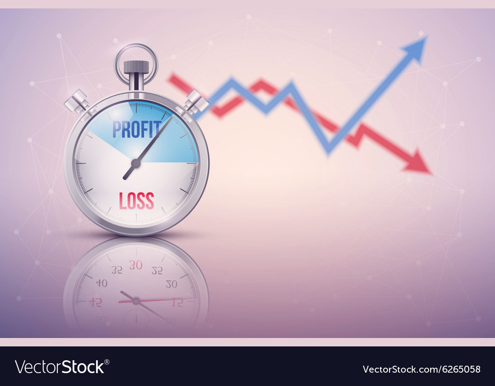 Background of stopwatch for forex trader vector