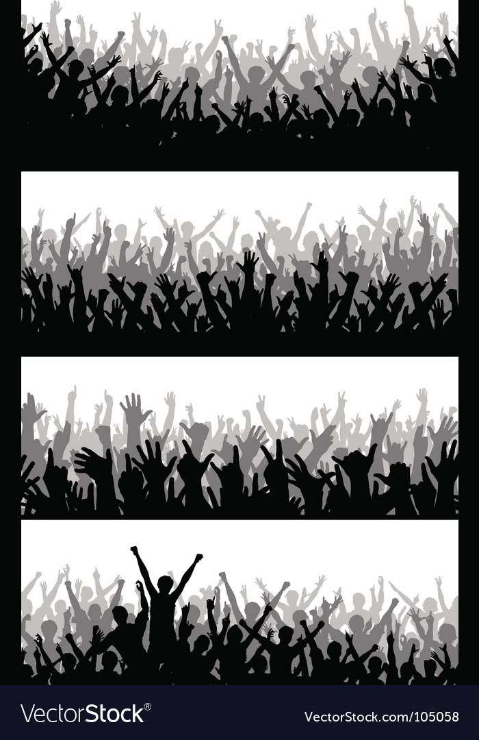 Crowd foregrounds vector