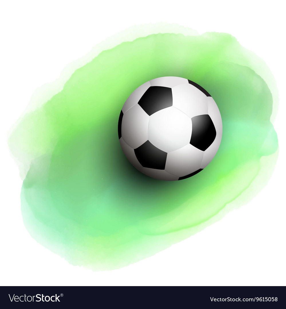 Football on watercolor background 1506 vector