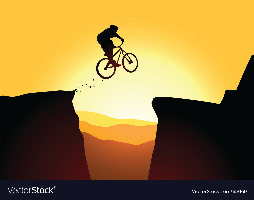 Jump mountain vector