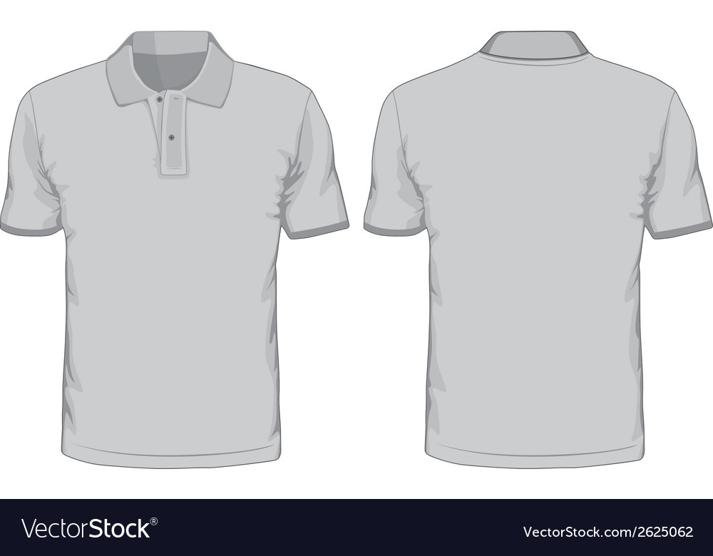 Mens poloshirts template front and back views vector