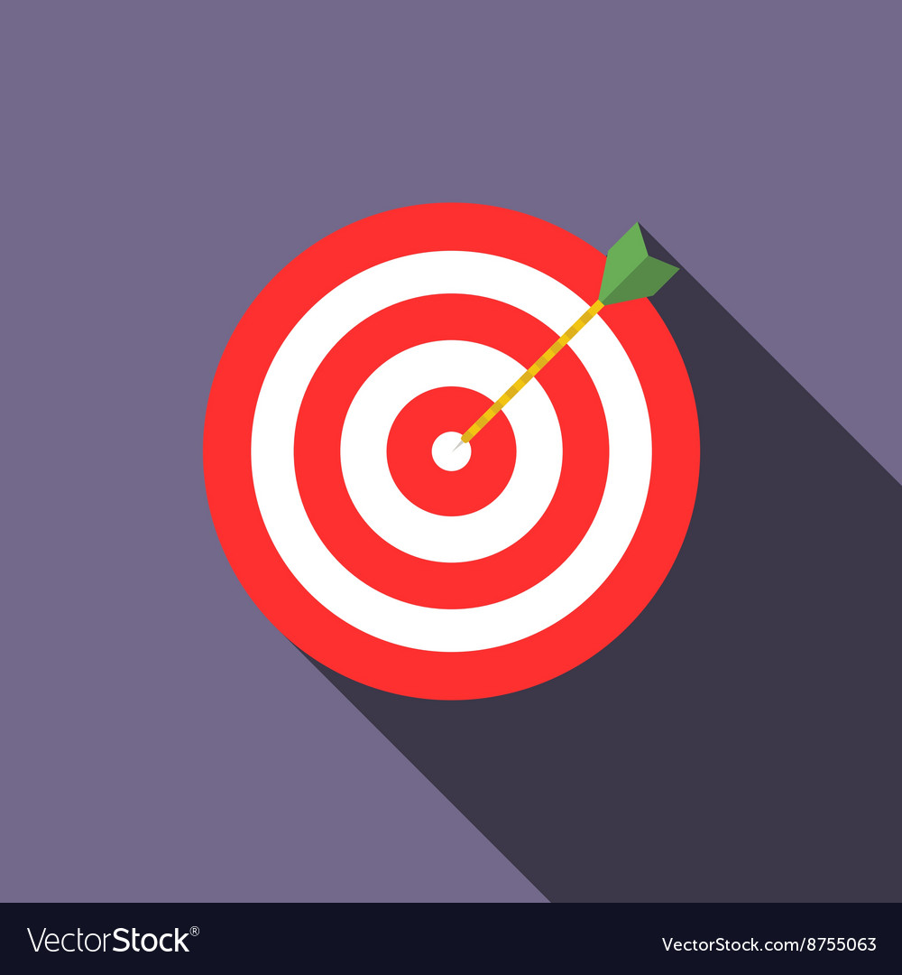 Target icon in flat style vector