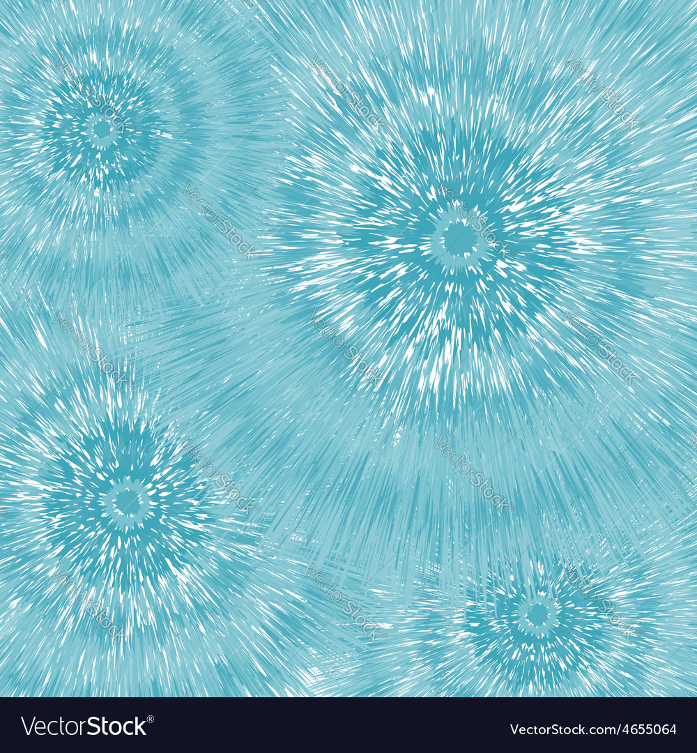 Blue fantastic dandelions abstract flowers vector