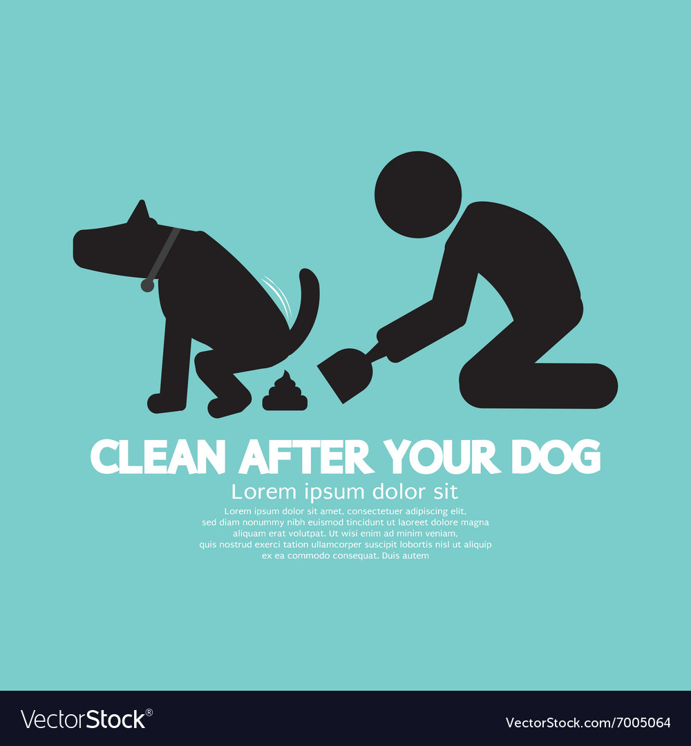 Clean up after the dog symbol vector