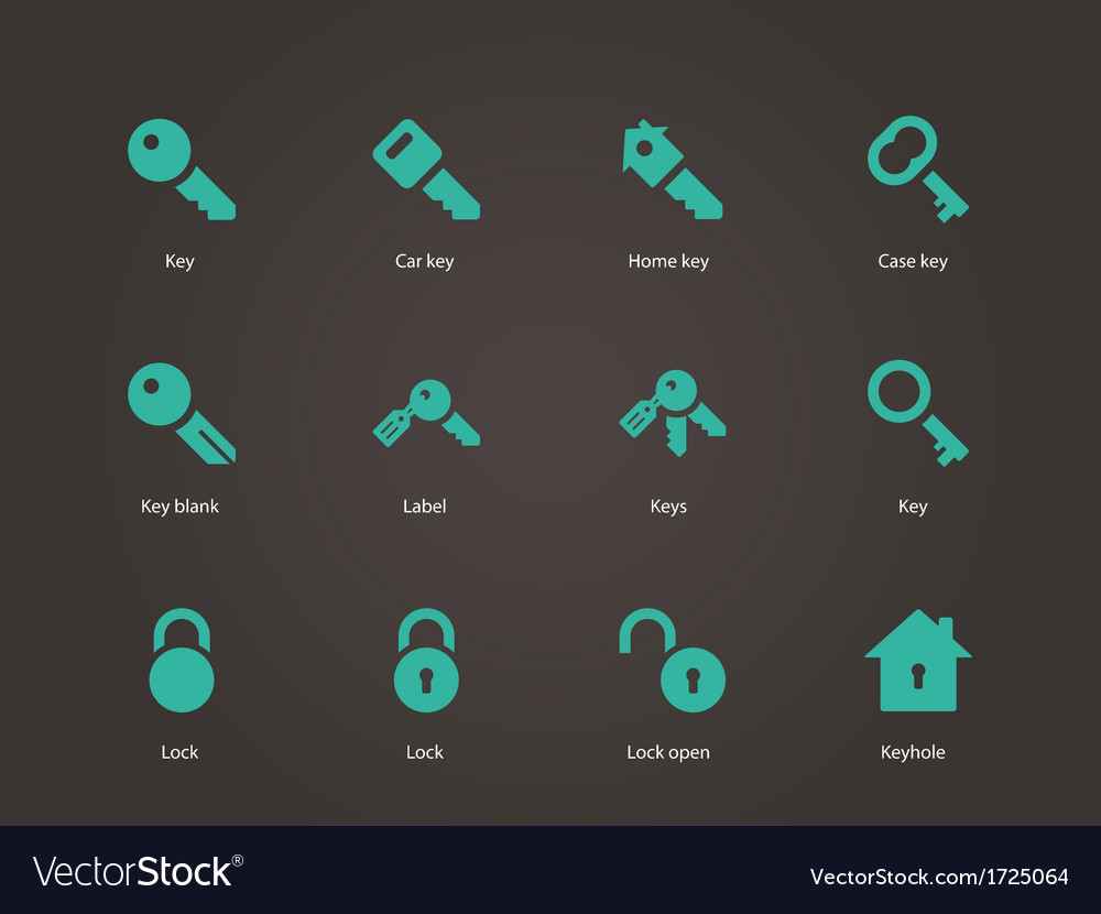 Key icons vector