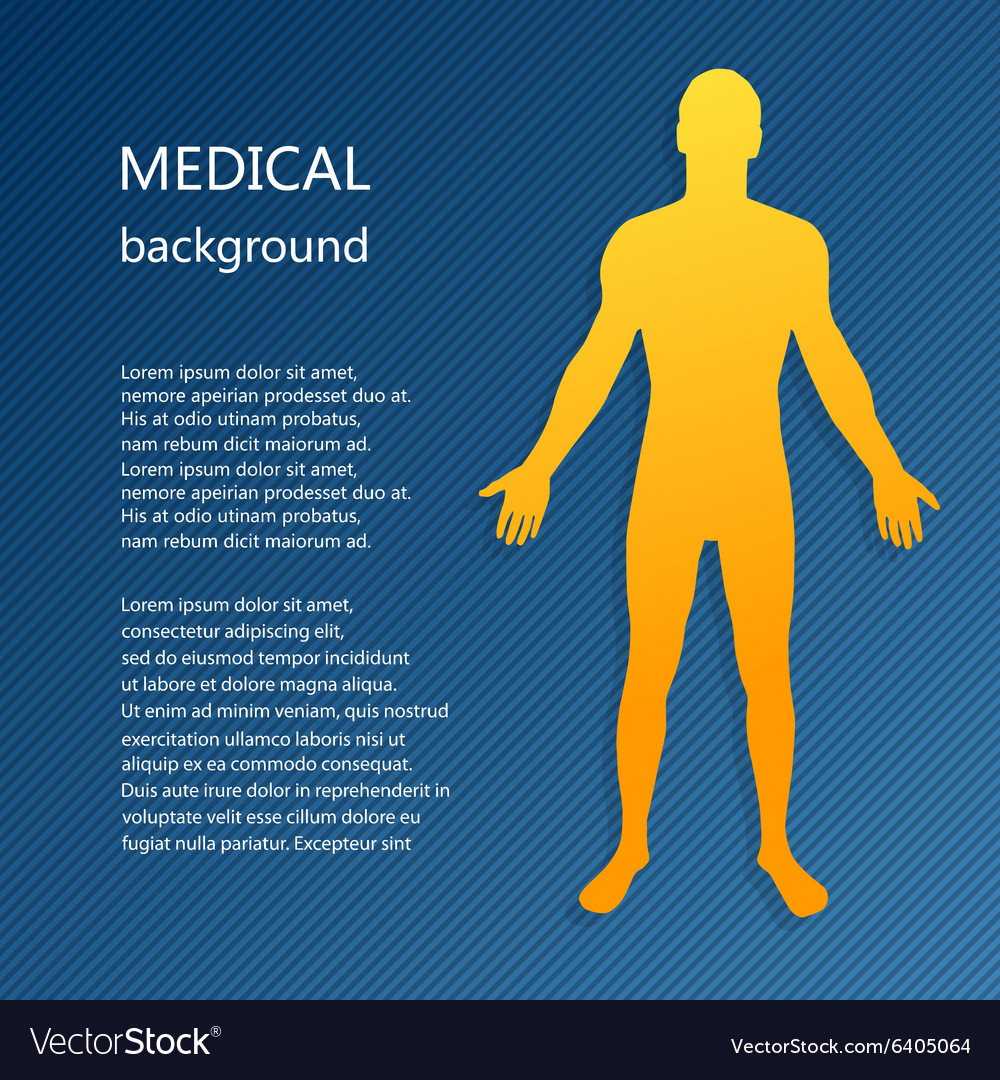 Medical background abstract model of man vector