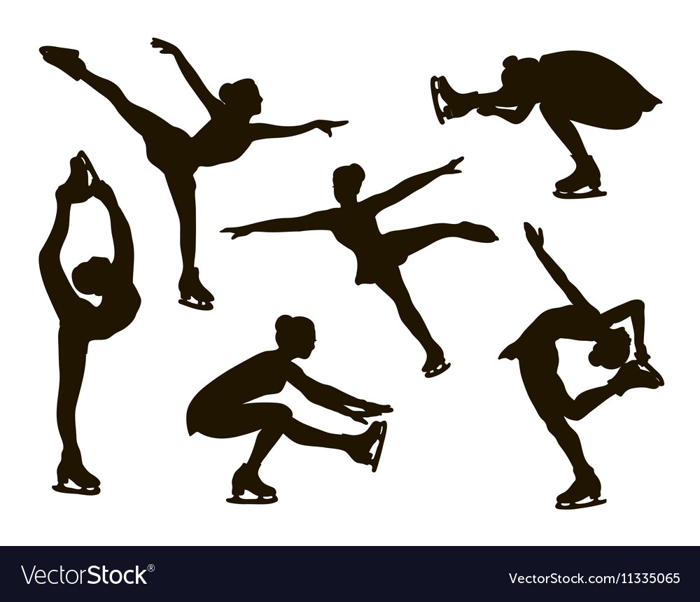 Figure skating set vector
