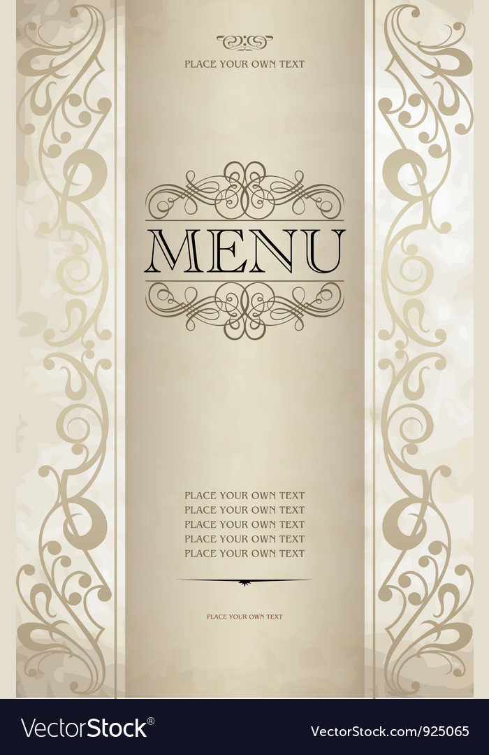 Menu cover vector