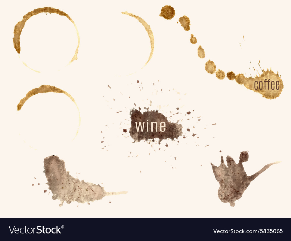 Traces of coffee and wine vector