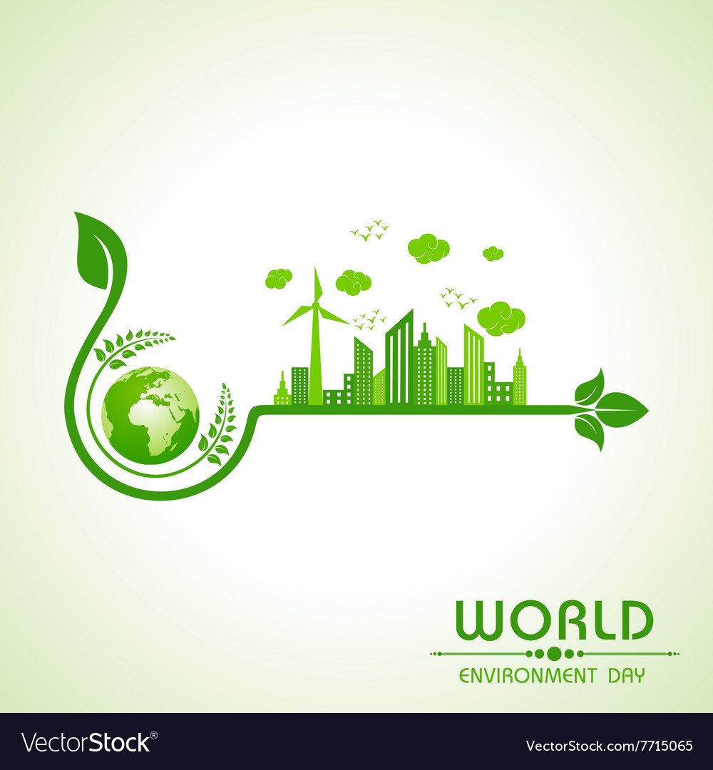 World environment day greeting design vector