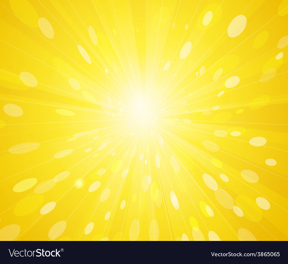 Yellow sunny rays background vector