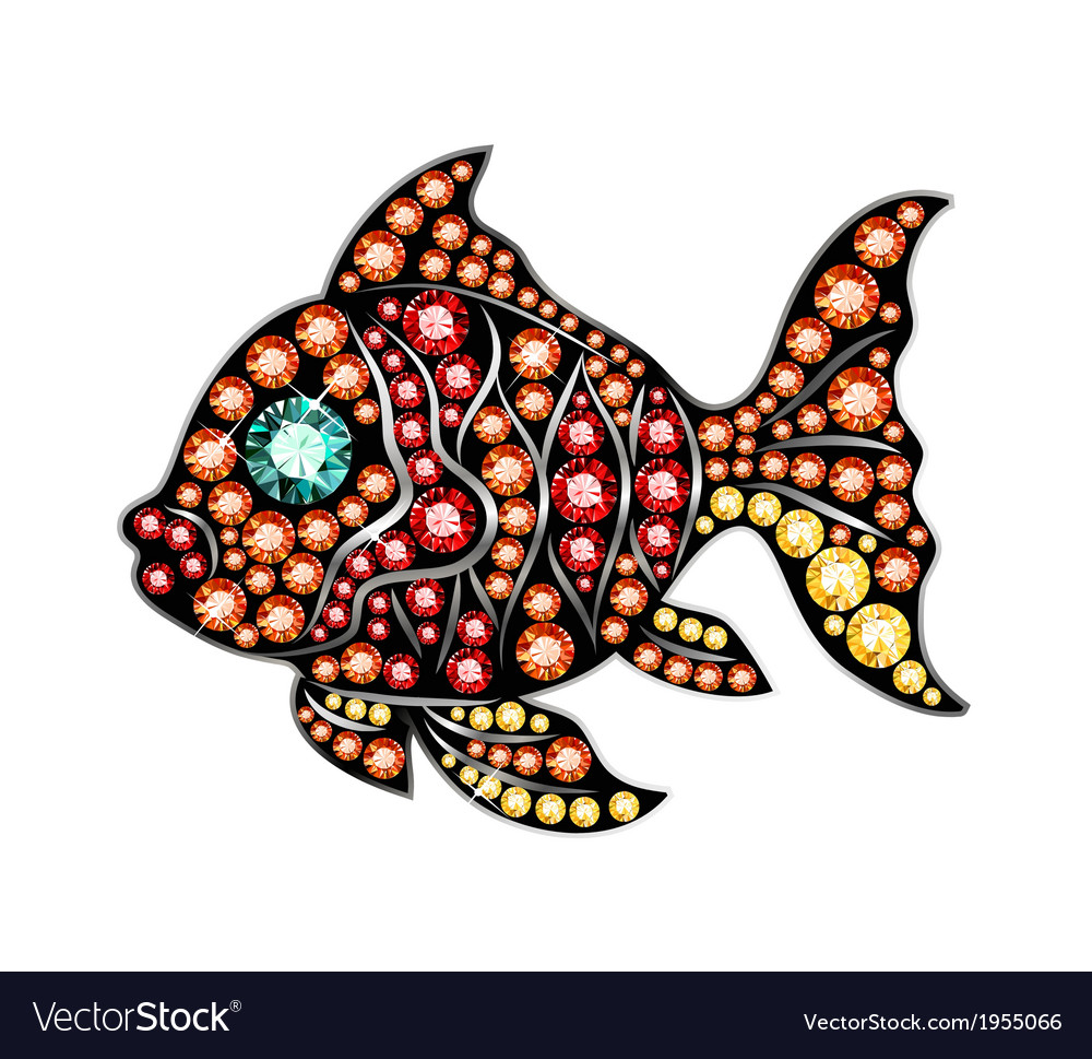 Gem fish vector