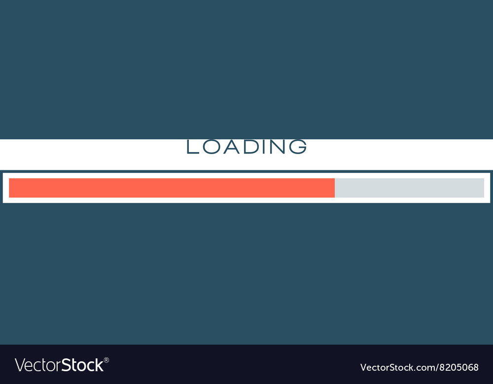 Progress loading bar symbol template vector