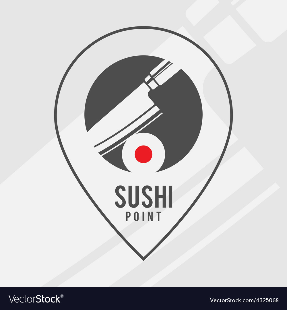 Sushi point  logo for the shop vector