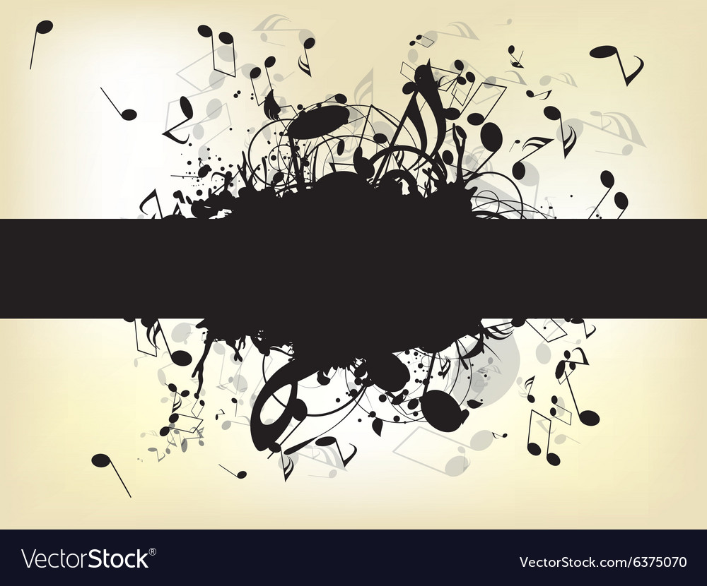 Abstract background with notes vector