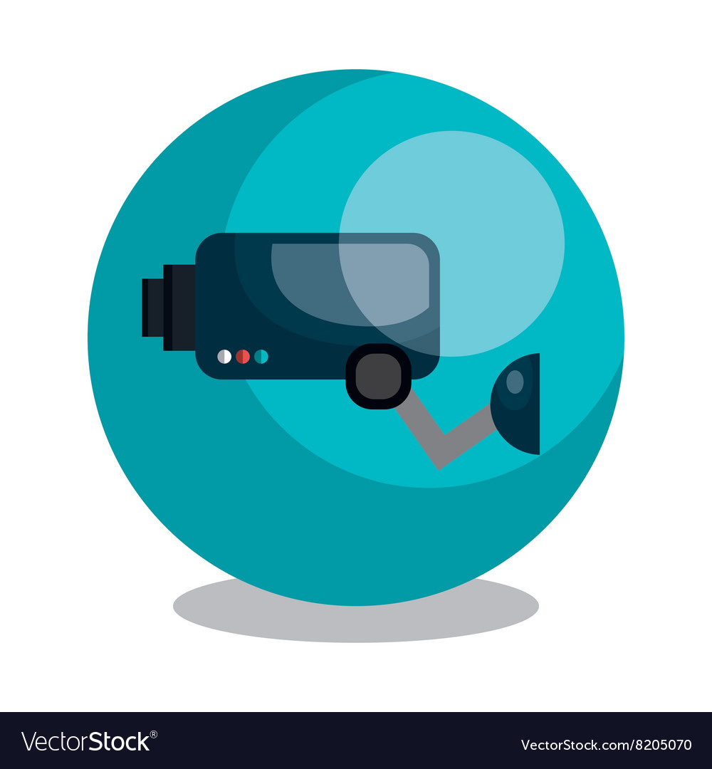 Security cam design vector