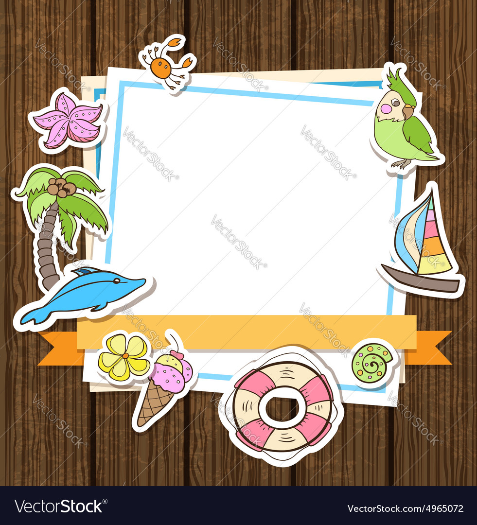 Summer decorative background vector