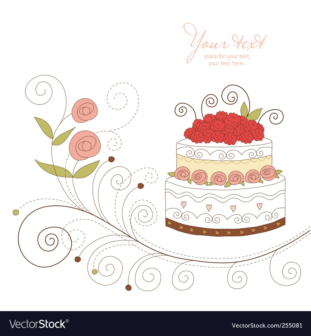 Greeting card with cute cupcak vector
