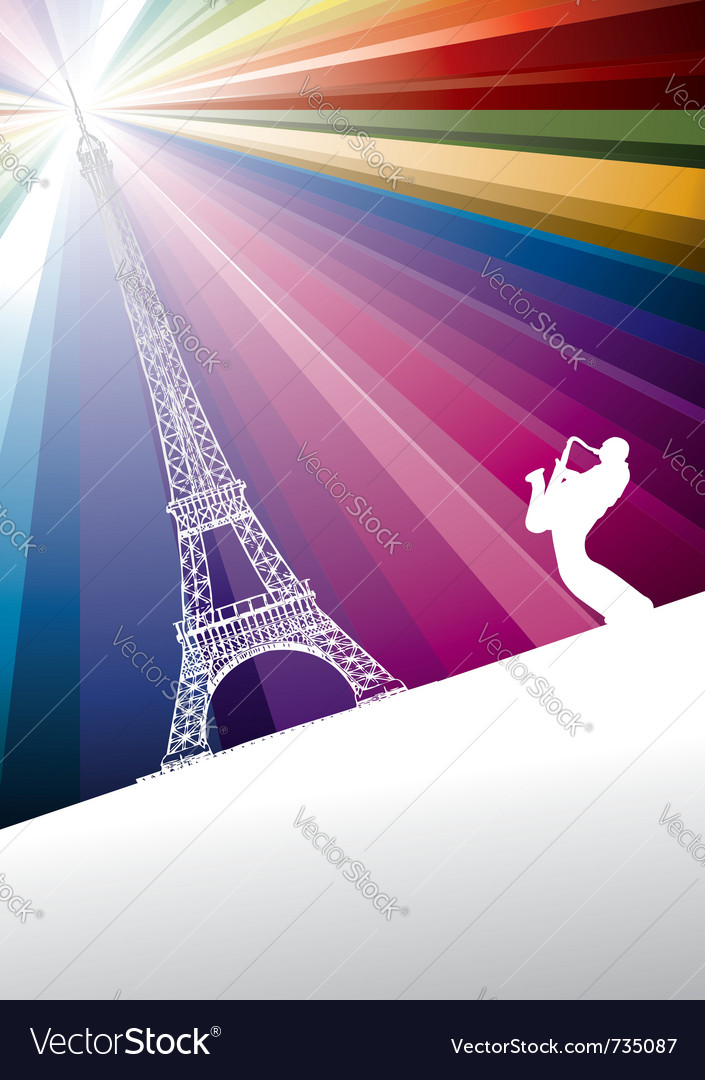 Jazz trumpeter in paris vector