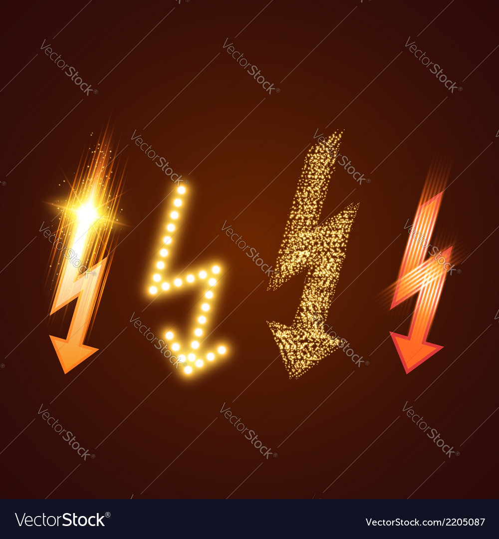 Lightning set vector