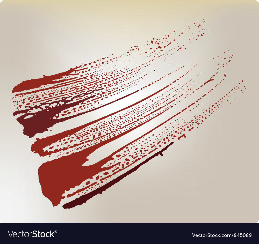 Grunge blood stain vector
