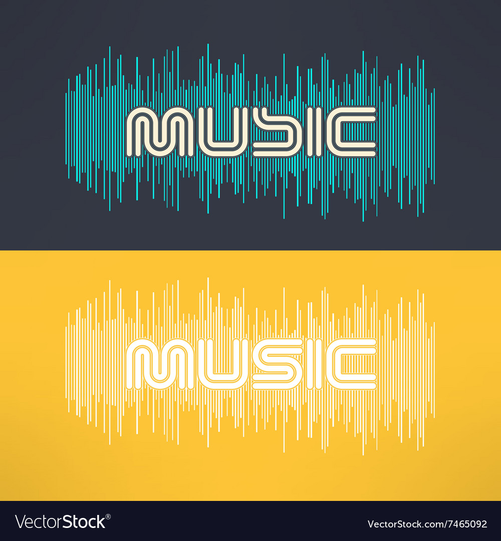 Music stylish background with equalizer vector
