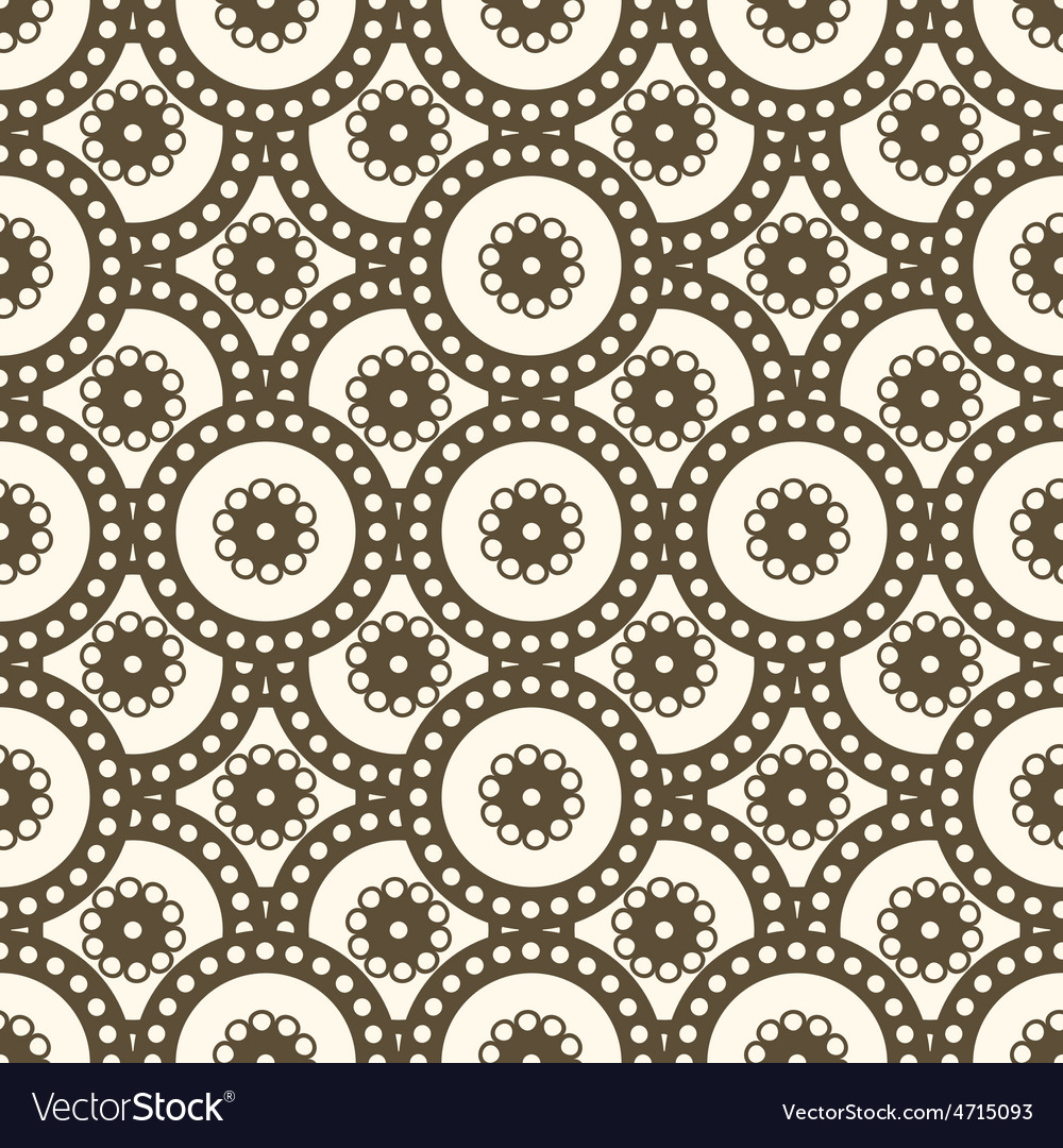 Patterns seamless circles vector