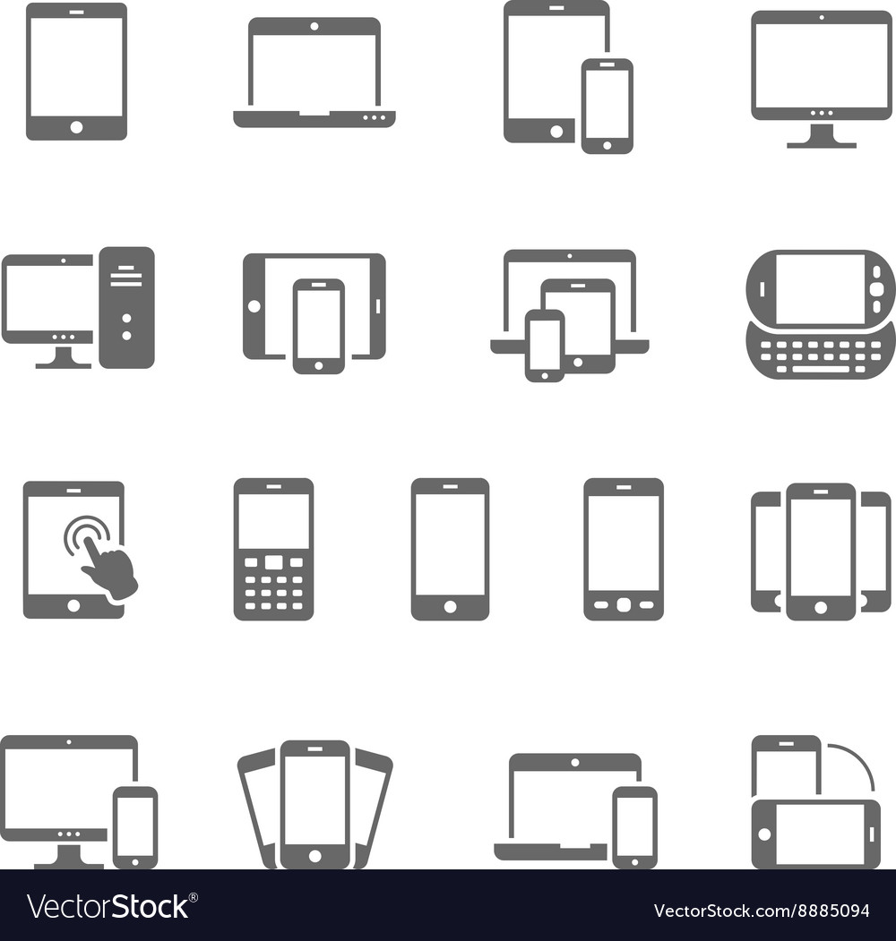 Icon set  responsive devices vector