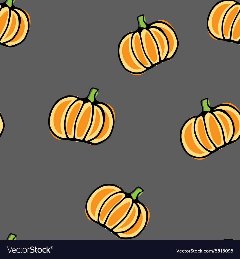Seamless pumpkin pattern vector