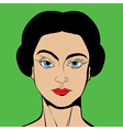 Pop Art style girl vector image