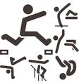 parkour icons set vector image vector image