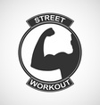 Different sports and street workout logo templates vector image