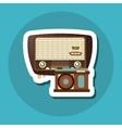 colorful retro radio design vector image