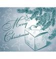 Christmas hand vector image