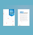 blue cover annual report brochure flyer template vector image