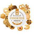 homemade cookies round label vector image