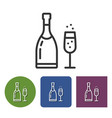 line icon of champagne vector image