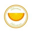 Orange icon Organic food design graphic vector image