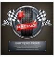 Racing emblem on black vector image