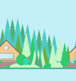 seamless horizontal landscape in flat style vector image