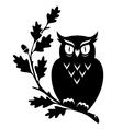 symbol owl oak vector image