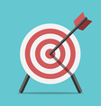 Target with arrow standing vector image