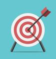 Target with arrow standing vector image